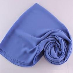 Châle Mousseline Bleu Bleuet