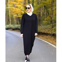 Robe En Maille Noir Hazel