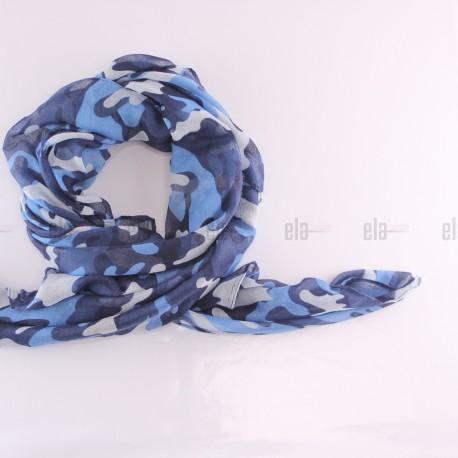 Châle Military Bleu